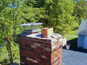 Newbury Ohio over sized hot water tank flue
